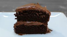 Do you like chocolate cake? Then you have got to try this homemade moist chocolate cake recipe. Frost it with homemade chocolate buttercream frosting and you have one amazing bite of cake. I love eating cake and this is one of my favorite chocolate cakes. Easy Moist Chocolate Cake, Homemade Chocolate Buttercream Frosting, Chocolate Cake Mix Recipes, Chocolate Cake From Scratch, Amazing Chocolate Cake Recipe, Gluten Free Chocolate Cake, Chocolate Cake Mixes, Healthy Chocolate, Chocolate Desserts