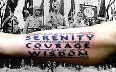 """AA changed the original """"serenity prayer"""" allowed to do so by the origial author ....; """" composed by a Nazi-hating German who was fighting an evil that he couldn't control."""""""