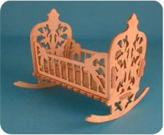 This is a pretty baby doll cradle to make with a scroll saw!