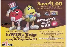 2013 magazine ad M&M's SUMMER'S BETTER WITH mms M&M advertisement print