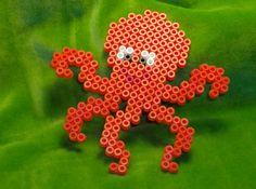 Octopus hama perler by Fiskegudens datter