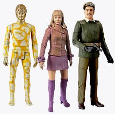 77. Claws of Axos set: contains the Brigadier (with pistol), Jo and Axos (in human form)
