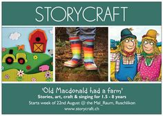 Storycraft are themed arts and craft classes in Zurich and Wadenswil for children aged from to 7 years old. They include a story, craft activity & singing.