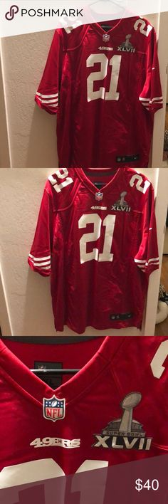 49ers Super Bowl XLVII Jersey Men's Jersey - 49ers! Worn once no flaws. Looking for its new home since it's just sitting in our closet. Will accept reasonable offers! Nike Other