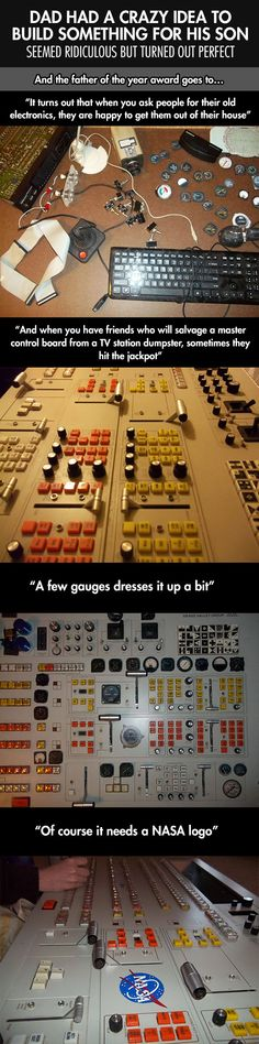 Old control board becomes Spacecraft control board! ... I want one.