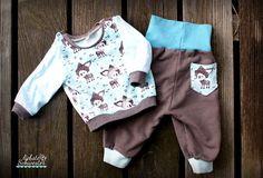 liebste schwester: Hose und Shirt für den Kleinsten, Schnitt von Klimperklein, Stoff; Alles für Selbermacher