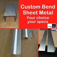 Custom Fabricated Sheet Metal at your fingertips. Ideal for your #DIY #homeimprovement #renovation #handyman projects @metalscut4u.com