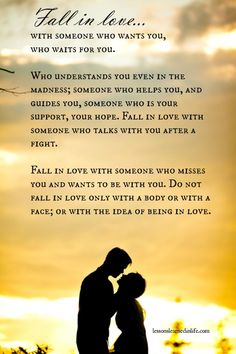 Lessons Learned in Life   Fall in Love….