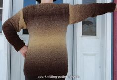 ABC Knitting Patterns - Basic Sweater with Boatneck Collar