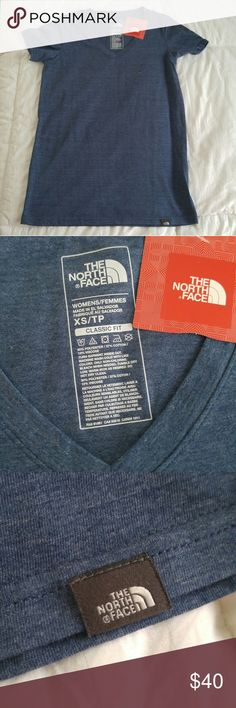 The North Face Classic Fit V-neck Tee Brand new and excellent for gift! Cute everyday top that no girl could ever have enough of. The North Face Tops Tees - Short Sleeve