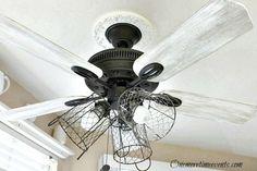 Ceiling Fan into Farmhouse Style Lighting
