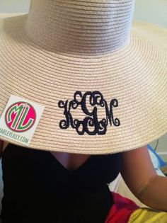 How cute is that monogrammed beach hat!