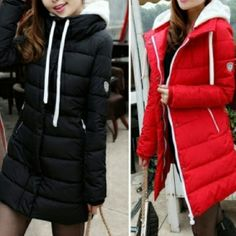 Mount Clear | Puffer Coat This puffer coat is reminiscent of the popular Moncler coats. It's stylish, but at a fraction of the cost. Specify Color - Black or Red Jackets & Coats Puffers