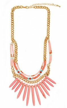 Neely Statement Necklace! https://belleboutiquenwa.com/layer-beaded-necklace.html #xoxoBelle #statementnecklace #fashion #trendy