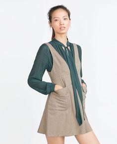 CHECK PINAFORE DRESS-View all-Dresses-WOMAN | ZARA United States