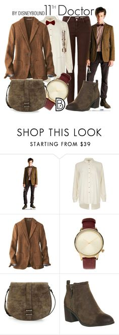 """""""11th Doctor"""" by leslieakay ❤ liked on Polyvore featuring River Island, Uniqlo, Komono, Neiman Marcus, Office, Lanvin, Halloween, doctorwho and disneybound"""