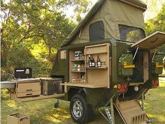 Conqueror popup trailer has a place for everything and is ready for anything