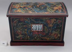 """Round top trunk served as bridal dowry and as the baggage of our immigrants. 36"""" x20"""" x16"""""""