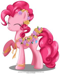 Finally I did a new May Festival Pony This time it's Pinkie. I love her design, she looks so cute with these colorful flowers Enjoy! Here flowers. May Festival Pony - Pinkie Pie Mlp, Fluttershy, Pinkie Pie, Raimbow Dash, Little Poni, Imagenes My Little Pony, My Lil Pony, Princess Luna, Childrens Room Decor