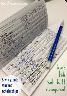 Learn how to teach your kids real life money management and be able to win grants and student scholarships! Kids have to be taught to money management from an early age! #teachmama #reallife #lifemanagement #education #financialeducation #scholarship #moneymanagement #budget #kids