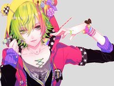 anime heterochromia / odd eyes green black (Nutty)