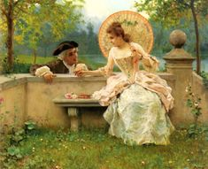 Federico Andreotti A Tender Moment in the Garden painting anysize 50% off