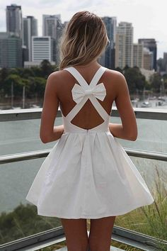 cute fashion backless dress with bow Cute Fashion, Fashion Beauty, Womens Fashion, Fashion Ideas, Swag Fashion, Nail Fashion, Fashion Images, Teen Fashion, Style Fashion