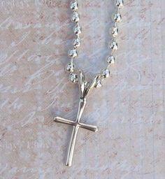 Sterling Silver Cross Pendant / Necklace SC6 by FancyAngel on Etsy, $14.00