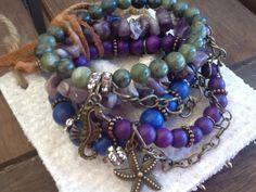 BoHo GeMSToNe ARM PaRTy/ Women/ Teen bracelet stack/ by Ivanwerks