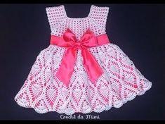 Passa a passo Vestido de crochê para bebe recém nascido Jocimara Antonini - YouTube