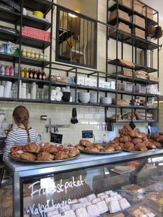 beautiful bakery Oh my gosh, I love the view into the upstairs.