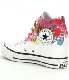 Converse Chuck Taylor® All Star® Lux Women´s Wedge Sneakers in White (White/Pink/Black) | Lyst