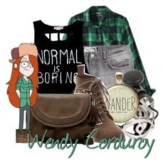 """Wendy Corduroy from Gravity Falls"" by infinity-starts-with-you ❤ liked on Polyvore featuring Mossimo Supply Co., H&M, byLUDO, LowLuv and Zara"