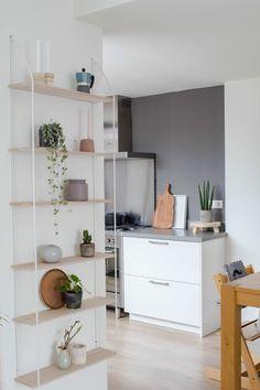 Living Room, Furniture, Shelves, Shelving Unit, Home Decor, Room Inspiration, Dining Room Inspiration, Room Divider, Scandinavian Shelves