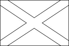 Image for Scottish Flag Coloring Page