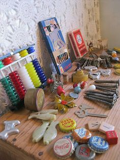 Vintage Junk Drawer of NEAT items :)