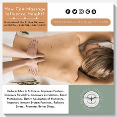 Head-to-Toe – Body Massage – Grow Taller Naturally Besides Feeling Great! #health #healthylifestyle #healthyliving #healthandwellness #healthandwellbeing #balancedlifestyle #balancezthekey #wellness #wellbeing #healthybody #massage #massagetherapy #massageoil #growtaller4idiots #growtallerforidiots #gettaller4idiots #growtaller #increaseheight #howtogrowtaller Improve Flexibility, Improve Posture, Increase Height, Improve Circulation, How To Grow Taller, Boost Metabolism, Massage Oil, Massage Therapy, Health And Wellbeing