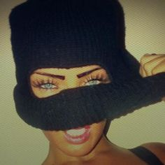 girl behind ski mask - Google Search