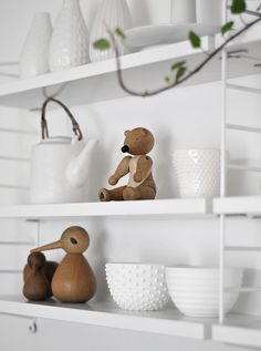 String Pocket shelf / white interior