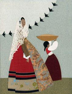 Giuseppina e Albina Coroneo (Sorelle Coroneo) Vintage Images, Vintage Posters, Sardinian People, Sardinia Italy, My Land, Religious Art, Fabric Art, E Design, Pretty Pictures