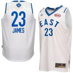 ca097d210 Men s NBA Eastern Conference LeBron James adidas White 2016 All-Star Game Swingman  Jersey Dwyane