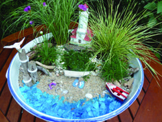 Latest Photos mermaid fairy garden Popular There is countless great fairy landscapes on line yet it might be overwhelming receive started. Beach Fairy Garden, Garden Workshops, Mermaid Fairy, Mermaid Beach, Little Gardens, Small Gardens, Dish Garden, Beach Gardens, Cactus Y Suculentas