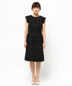 【セール】テープヤーンツイードワンピース (ワンピース)|THE SURREY(ザ・サリィ)のファッション通販 - ZOZOTOWN