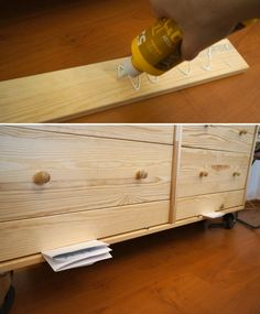 Rast IKEA Hack - Paint Patterns and Pulls - quick on a budget DIY project Ikea Bedroom, Bedroom Storage, Ikea Hacks, Ikea Hack Rast, Ikea Rast Dresser, Decorating Blogs, Decorating Games, Interior Decorating, Diy On A Budget