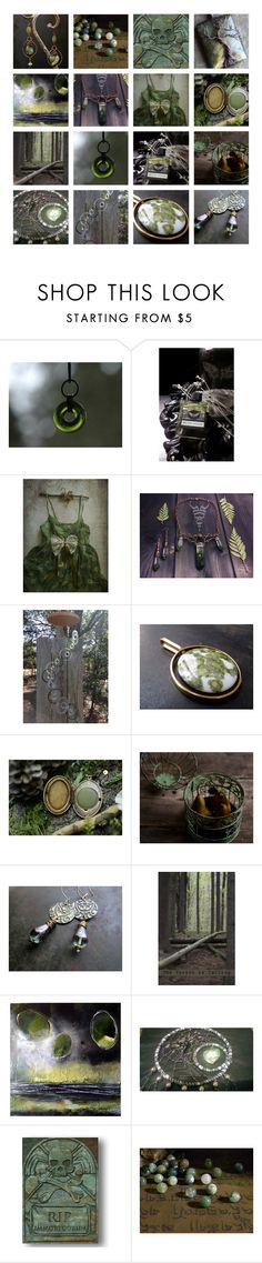 """""""Forest"""" by andreadawn1 ❤ liked on Polyvore featuring Frieling, etsy, handmade and shopetsy"""