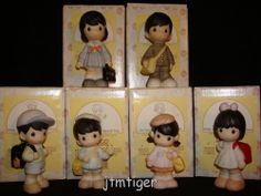 jb Precious Moments-Rare Japanese School Boy/Girl Set Of 6 Japanese School, Japanese Boy, Precious Moments Figurines, School Boy, Girls Club, My Precious, Baby Items, Boy Or Girl, In This Moment