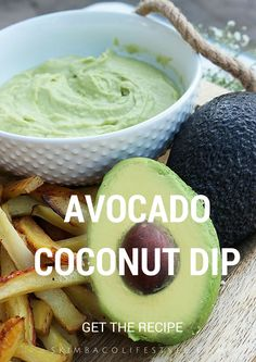 Avocado coconut milk dip recipe - this is a popular dipping sauce for parties!
