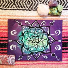 Cosmic Purple Swirl // mandala // acrylic // paint by AbraKayDabra For Sale @ www.etsy.com/shop/abrakaydabra :)