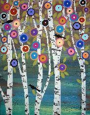 3 Birds In The Birches by karlagerard, via Flickr