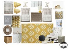 Twin Travelers {a shared neutral nursery}, yellow and gray nursery, @Matty Chuah Animal Print Shop by Sharon Montrose twin lion cub print, twin art, twin nursery